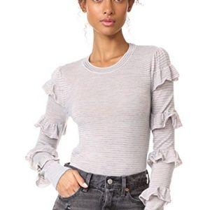 Rebecca Taylor Delicate Ruffle sweater M